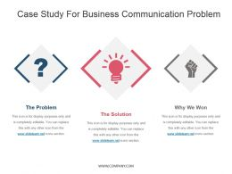 Case Study For Business Communication Problem Presentation Design Template