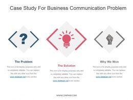 Case Study For Business Communication Problem Presentation Design Template