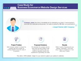 Case Study For Business Ecommerce Website Design Services Ppt Clipart