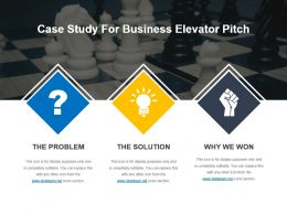 Case Study For Business Elevator Pitch Powerpoint Template