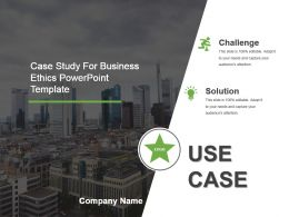 Case Study For Business Ethics Powerpoint Template