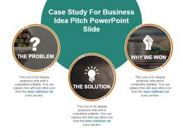 Case Study For Business Idea Pitch Powerpoint Slide