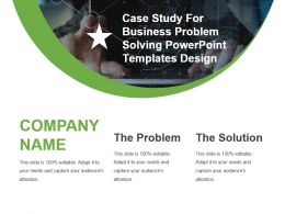 Case Study For Business Problem Solving Powerpoint Templates Design