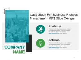 Case Study For Business Process Management Ppt Slide Design