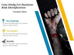 Case Study For Business Risk Identification Powerpoint Template