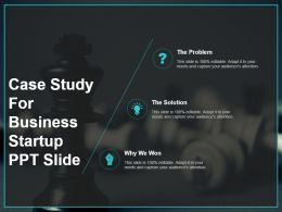 Case Study For Business Startup Ppt Slide