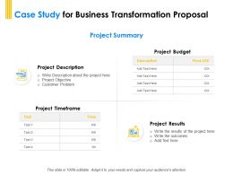 Case Study For Business Transformation Proposal Ppt Powerpoint Formats