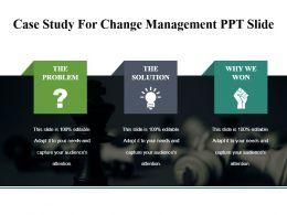 Case Study For Change Management Ppt Slide