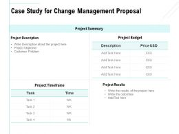 Case Study For Change Management Proposal Ppt Powerpoint Format