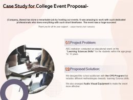 Case Study For College Event Proposal Ppt Powerpoint Presentation Ideas Inspiration