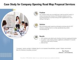 Case Study For Company Opening Road Map Proposal Services Ppt Powerpoint Presentation Slides