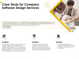 Case Study For Company Software Design Services Ppt Gallery