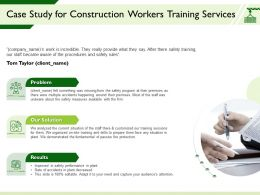Case Study For Construction Workers Training Services Fundamental Ppt Powerpoint Presentation Guide