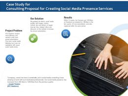Case Study For Consulting Proposal For Creating Social Media Presence Services Ppt Model