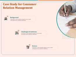 Case Study For Consumer Relation Management Ppt Example File