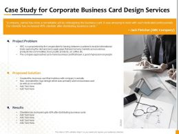 Case Study For Corporate Business Card Design Services Ppt Icon Picture