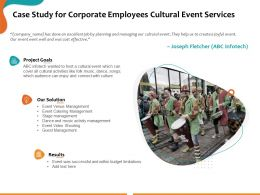 Case Study For Corporate Employees Cultural Event Services Ppt Powerpoint Presentation Slides Aids