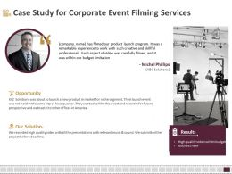 Case Study For Corporate Event Filming Services Ppt File Design