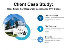 Case Study For Corporate Governance Ppt Slides