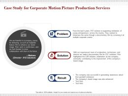 Case Study For Corporate Motion Picture Production Services Ppt Powerpoint Presentation Layouts