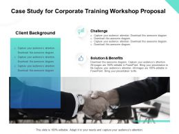 Case Study For Corporate Training Workshop Proposal Ppt Powerpoint Visual Aids