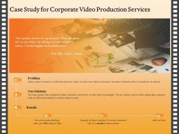 Case Study For Corporate Video Production Services Ppt Ideas