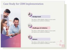 Case Study For CRM Implementation Challenges Ppt File Design