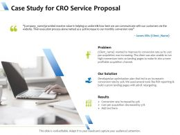 Case Study For CRO Service Proposal Ppt Powerpoint Presentation Ideas Layouts