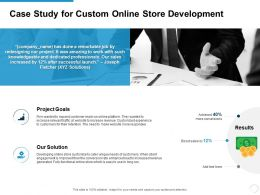 Case Study For Custom Online Store Development Ppt Powerpoint