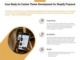 Case Study For Custom Theme Development For Shopify Proposal Ppt Slides