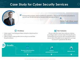 Case Study For Cyber Security Services Ppt Powerpoint Presentation Icon