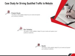 Case Study For Driving Qualified Traffic To Website Ppt Powerpoint Presentation Information