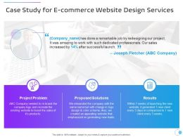 Case Study For E Commerce Website Design Services Ppt Powerpoint Presentation Summary
