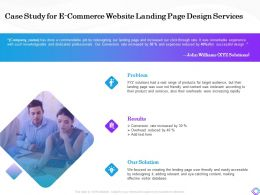 Case Study For E Commerce Website Landing Page Design Services Overheads Ppt Styles Background