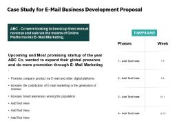 Case Study For E Mail Business Development Proposal Marketing Ppt Powerpoint Presentation Model Layout