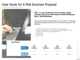 Case Study For E Mail Business Proposal Marketing Ppt Powerpoint Slides