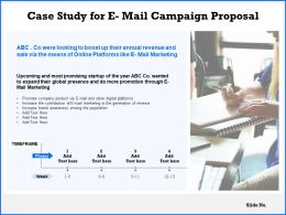 Case Study For E Mail Campaign Proposal Ppt Powerpoint Presentation Gallery Icons