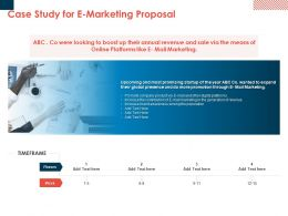 Case Study For E Marketing Proposal Ppt Powerpoint Presentation Styles Pictures
