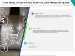 Case Study For Ecommerce Business Web Design Proposal Ppt Powerpoint Presentation File Picture