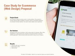 Case Study For Ecommerce Web Design Proposal Ppt Powerpoint Presentation Icon