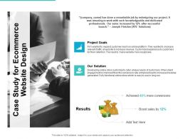 Case Study For Ecommerce Website Design Ppt Powerpoint Presentation