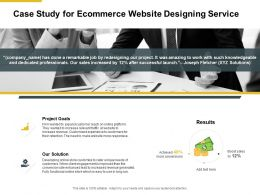 Case Study For Ecommerce Website Designing Service Ppt Presentation Slides