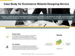 Case Study For Ecommerce Website Designing Service Ppt Presentation Slides