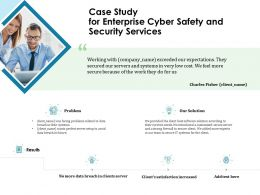 Case Study For Enterprise Cyber Safety And Security Services Ppt File Example Introduction
