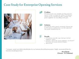 Case Study For Enterprise Opening Services Ppt Powerpoint Microsoft Tips