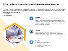 Case Study For Enterprise Software Development Services Minimization Ppt Powerpoint Presentation Guide