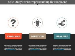 Case Study For Entrepreneurship Development Powerpoint Template