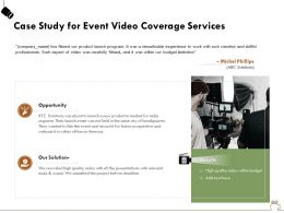 Case Study For Event Video Coverage Services Ppt Powerpoint Presentation Gallery Infographics
