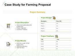 Case Study For Farming Proposal Ppt Powerpoint Presentation Slides Portfolio