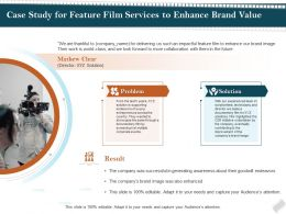 Case Study For Feature Film Services To Enhance Brand Value Ppt Topics